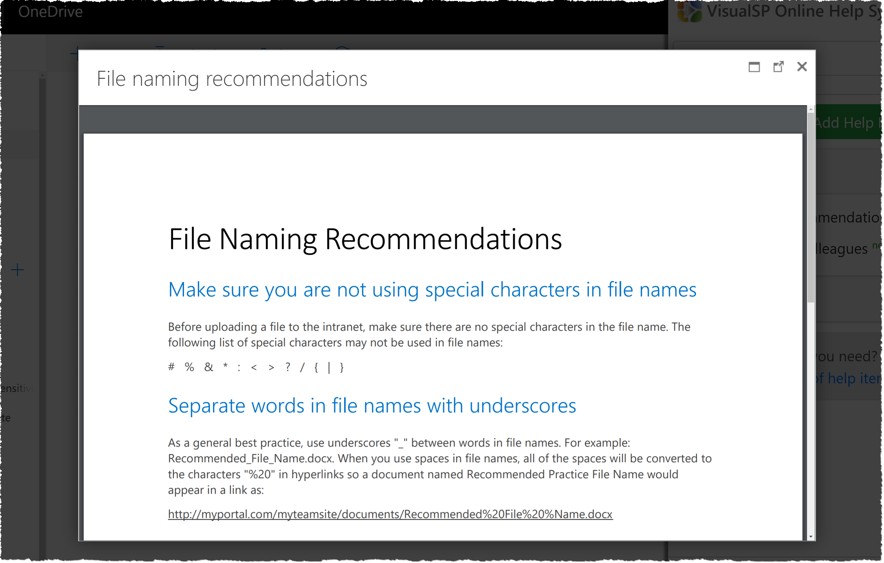 File naming recommendations