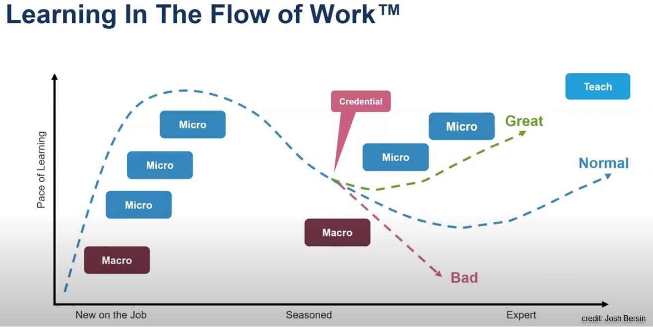 Learning in the Flow of Work graph - Josh Bersin