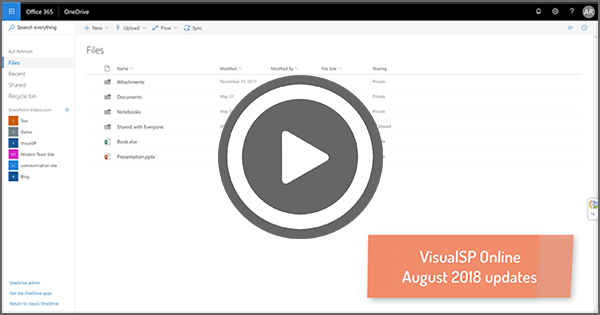 Watch Video to See What's New in VisualSP Online