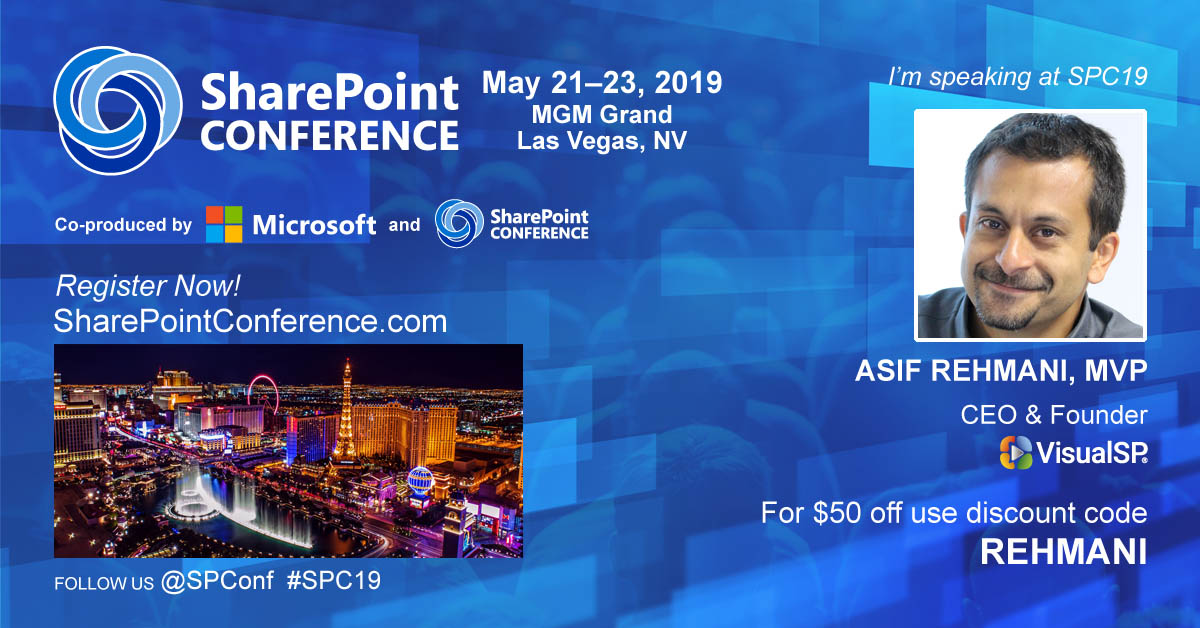 VisualSP Social Banner SharePoint Conference 2019
